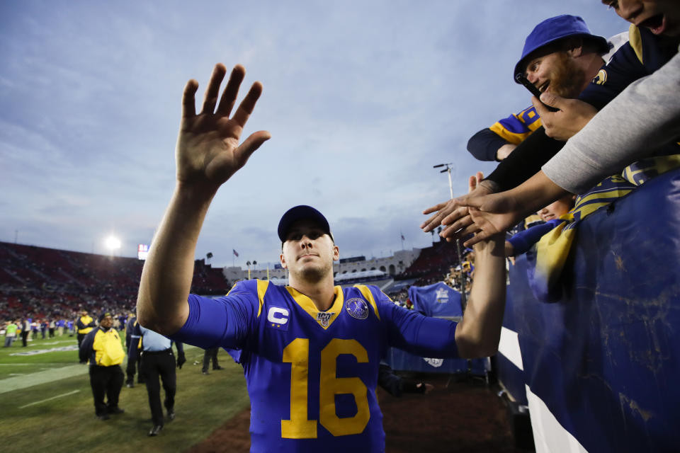 """Jared Goff and the Rams weren't a big draw on the first episode of """"Hard Knocks."""" (AP Photo/Marcio José Sánchez)"""