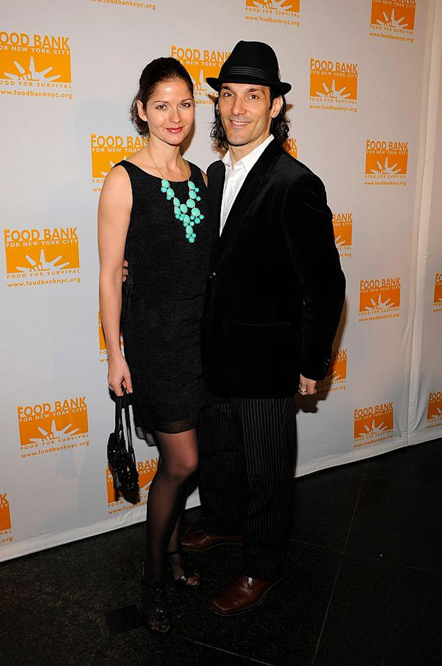 """Crossing Jordan"" star Jill Hennessy and her hubby Paolo Mastropietro arrive at the star-studded ceremony that benefits hunger relief. Larry Busacca/<a href=""http://www.wireimage.com"" target=""new"">WireImage.com</a> - April 7, 2008"