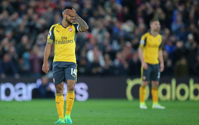 <span>Theo Walcott admitted Crystal Palace were more determined than his side </span> <span>Credit: REX </span>