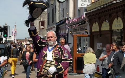 Chris Brown, official town crier of the Royal Borough of Windsor and Maidenhea - Credit: Steve Parsons /PA