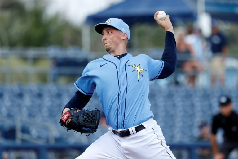 Tampa Bay Rays pitcher Blake Snell says he does not want to risk his life playing baseball during the coronavirus pandemic while taking a hefty pay cut (AFP Photo/Joe Robbins)