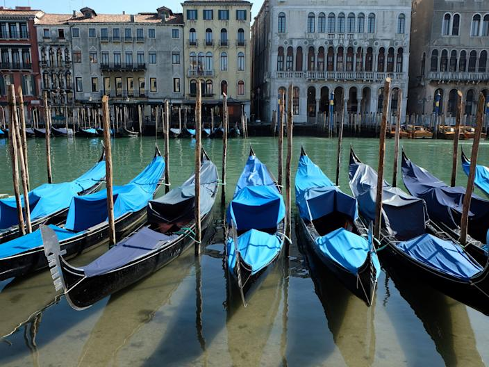 Clear waters in Venice