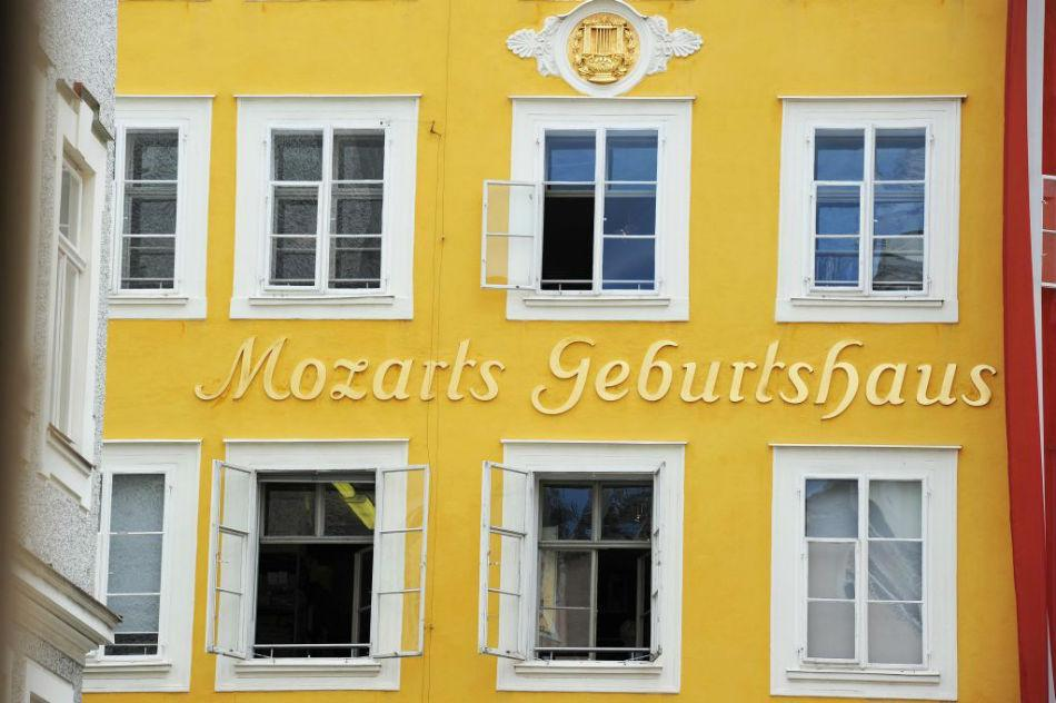 The birth house of Wolfgang Amadeus Mozart.