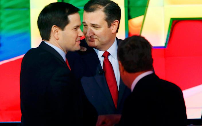 Marc Rubio and Ted Cruz (L-R) two of the sanctioned senators, were both Republican presidential candidates in the 2016 election - Reuters