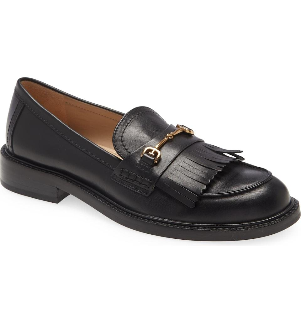 <p>The fringe detail and gold buckle of this <span>Sam Edelman Cammi Loafer</span> ($150) make it stand out. We love the classic and contemporary look of it.</p>