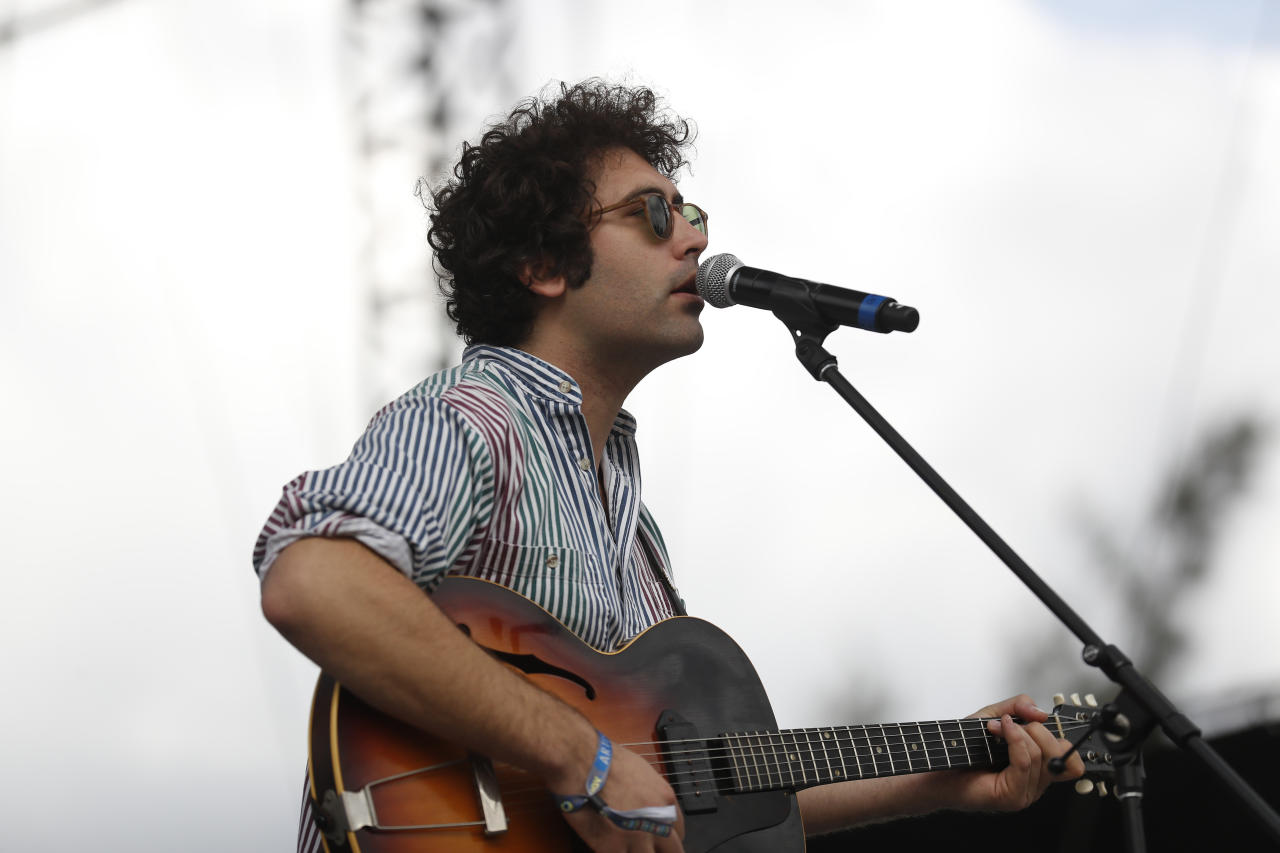 """<p> FILE - In this Sunday, Nov. 20, 2016 file photo, Miles Michaud, lead singer of the California band Allah-Las, performs during the second and last day of the Corona Capital Music Festival in Mexico City. A rock venue in the Dutch port city of Rotterdam says it has cancelled a concert by American rock group Allah-Las because of a """"terror threat."""" Concert organizer Rotown says on Twitter that the concert on Wednesday, Aug. 23, 2017 at the Maassilo venue was cancelled on orders of the police because of the threat. (AP Photo/Dario Lopez-Mills, file) </p>"""