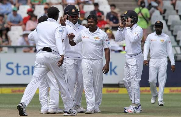 CAPE TOWN, SOUTH AFRICA - JANUARY 03: Rangana Herath of Sri Lanka during day 2 of the 2nd test between South Africa and Sri Lanka at PPC Newlands on January 03, 2107 in Cape Town, South Africa. (Photo by Petri OeschgerGallo Images/Getty Images)