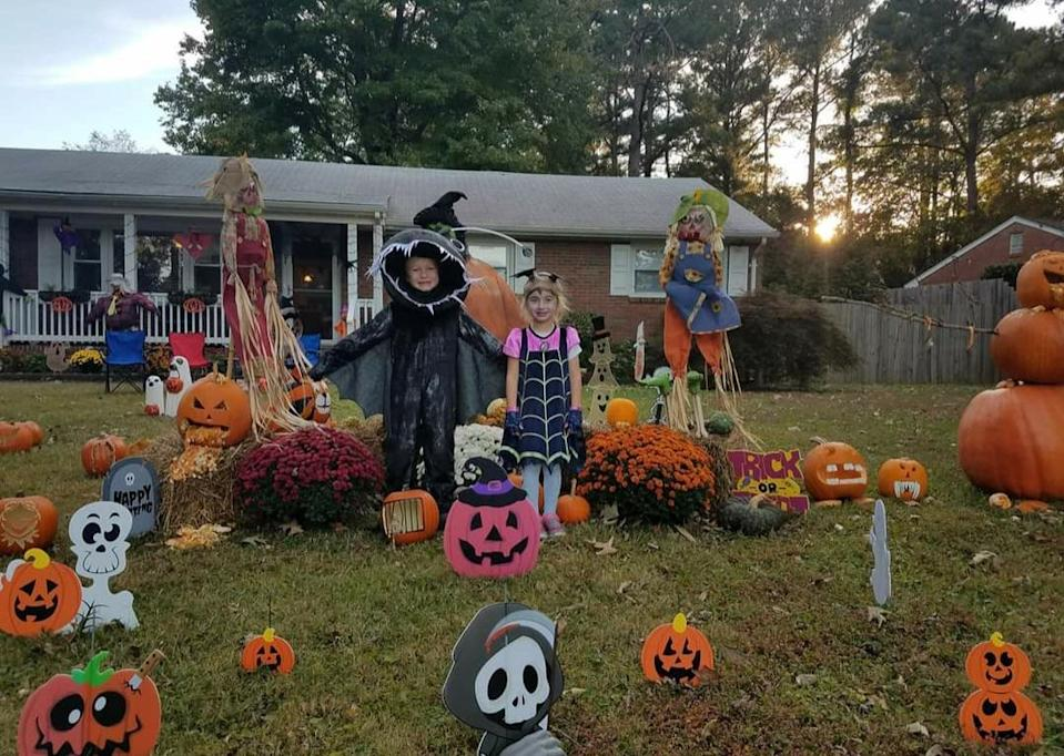 Virginia Beach resident Tonya Rivers goes all out when it comes to Halloween decor.