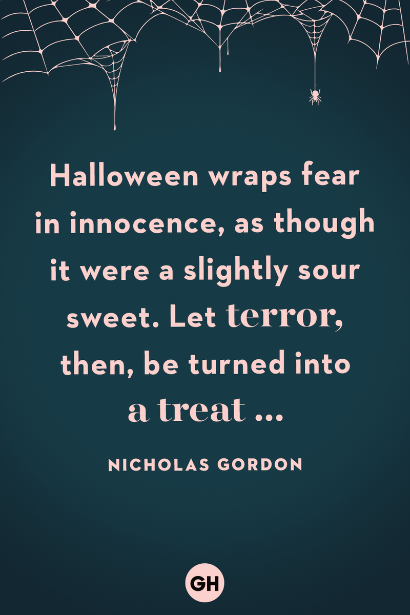 <p>Halloween wraps fear in innocence, as though it were a slightly sour sweet. Let terror, then, be turned into a treat ...</p>