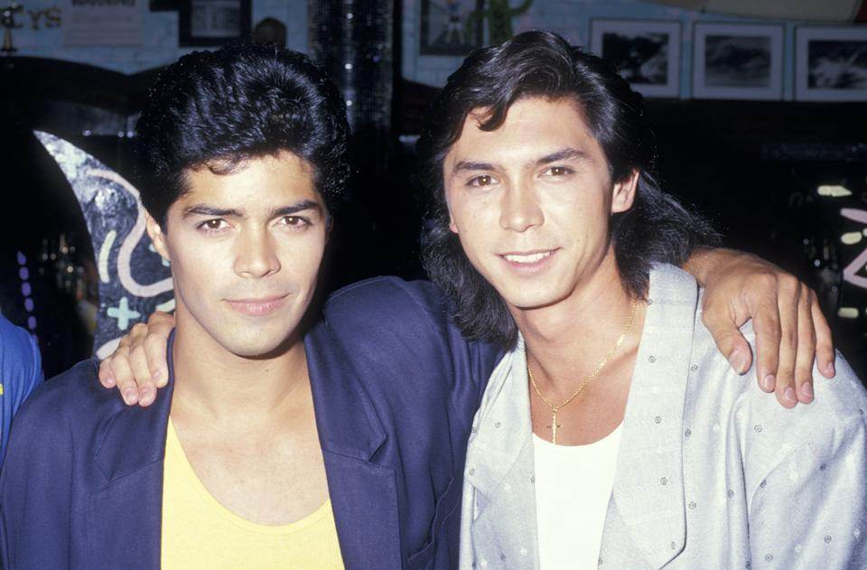 Actors Esai Morales and Lou Diamond Phillips attending the preview party for