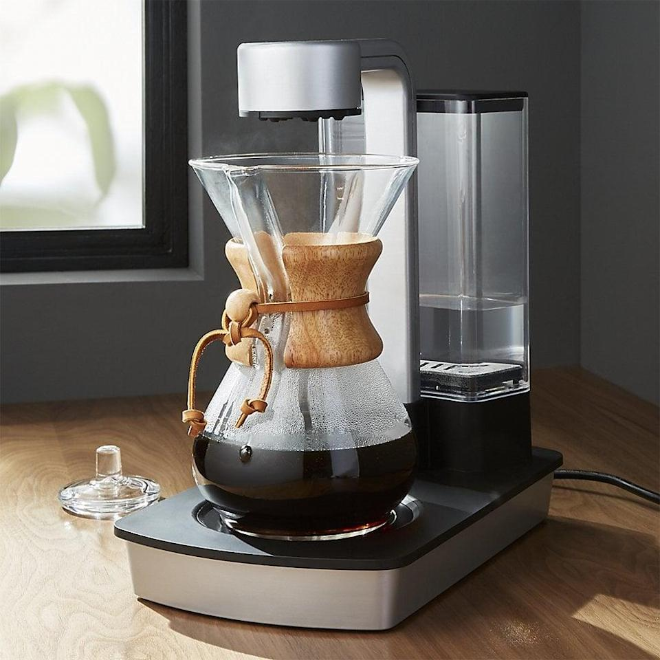 <p>Coffee elitists know that waiting for a perfect cup of pour-over coffee is worth the tedious process. The iconic <span>Chemex glass coffee maker</span> ($46) has been a cult favorite for over 40 years, delivering strong coffee without a trace of bitterness or sediment. The only draw back? Having the patience to slowly pour a kettle of boiling water while the coffee brews and drips. The <span>Chemex Automatic Coffeemaker</span> ($350), however, delivers the same quality on its own in minutes!</p>
