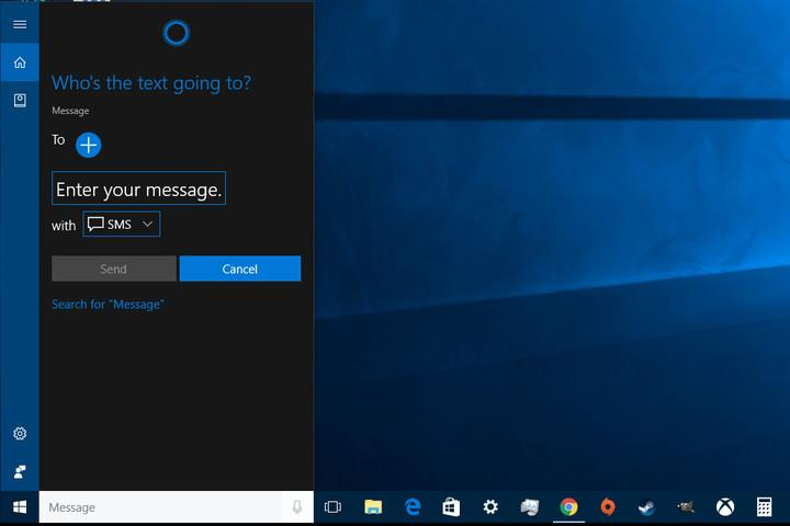 Texting with Cortana on Android 2