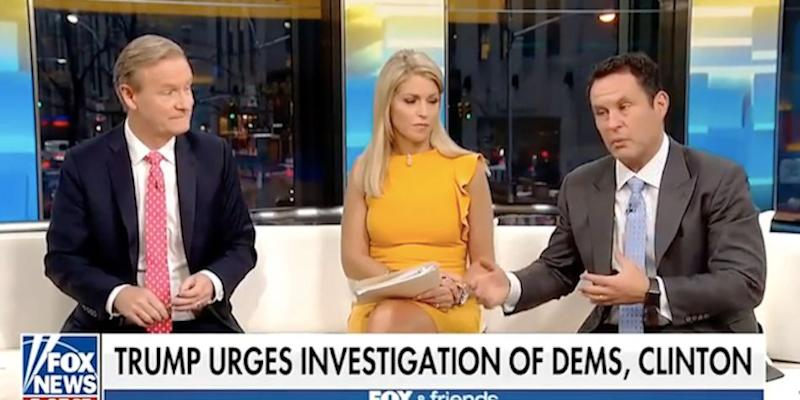 "On the day that President Donald Trump's former campaign chairman, Paul Manafort, was indicted, ""Fox & Friends"" dedicated substantial time to asking why Hillary Clinton wasn't being investigated instead."