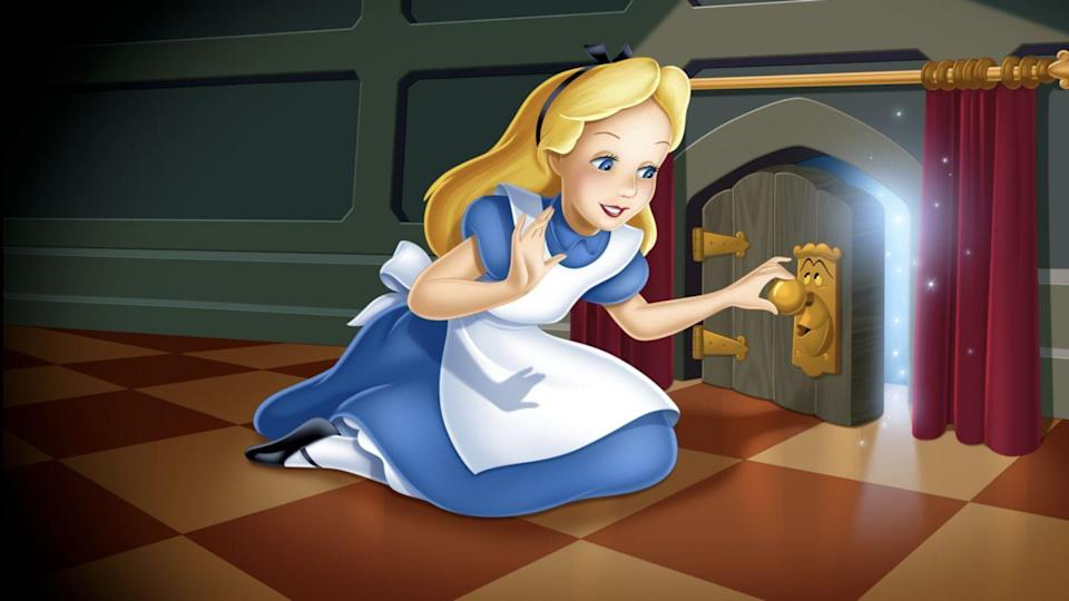 """<p>disneyplus.com</p><p><a href=""""https://go.redirectingat.com?id=74968X1596630&url=https%3A%2F%2Fwww.disneyplus.com%2Fmovies%2Falice-in-wonderland-1951%2F2l0X3WdCxQ4F&sref=https%3A%2F%2Fwww.redbookmag.com%2Flife%2Fg34929170%2Fbest-disney-movie1%2F"""" rel=""""nofollow noopener"""" target=""""_blank"""" data-ylk=""""slk:WATCH NOW"""" class=""""link rapid-noclick-resp"""">WATCH NOW</a></p><p>Disney's version of the 19th century novel by Lewis Carroll is one of its most fantastical and surreal movies of all time. After young Alice follows the White Rabbit down a hole into Wonderland she meets some of Disney's most colorful characters including the Mad Hatter, the Cheshire Cat and the evil Queen of Hearts.</p>"""