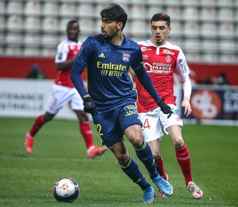Lucas Paqueta in action for Lyon against Reims last weekend