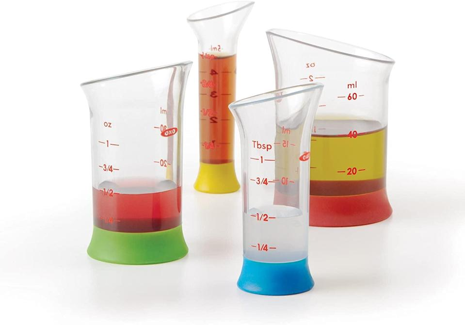 <p>This <span>OXO Good Grips 4-Piece Mini Measuring Beaker Set</span> ($10) is both useful and cool.</p>