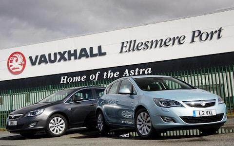 Vauxhall Astra's roll off the line at the marques' Ellesmere Port plant