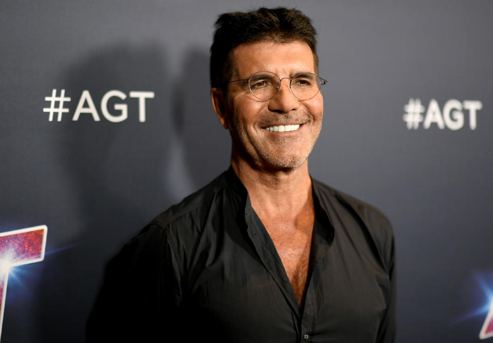 """HOLLYWOOD, CALIFORNIA - SEPTEMBER 17: Simon Cowell attends """"America's Got Talent"""" Season 14 Live Show Red Carpet at Dolby Theatre on September 17, 2019 in Hollywood, California. (Photo by Frazer Harrison/Getty Images)"""