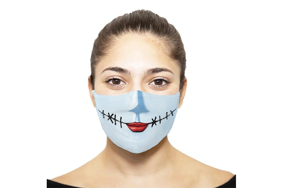nightmare before christmas face mask, halloween face mask, sally face mask
