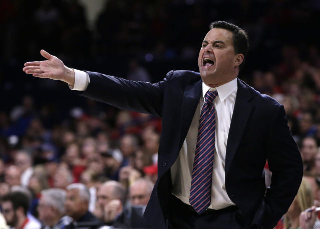 Arizona coach Sean Miller tore into his team during a scathing postgame news conference earlier this week. (AP)