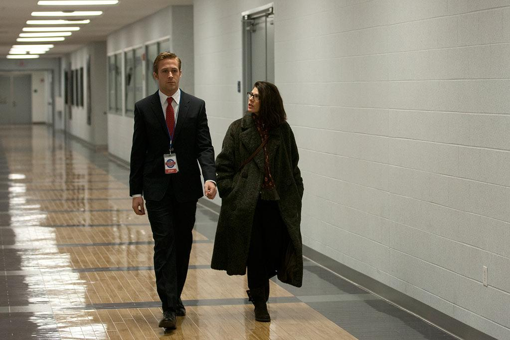 """<a href=""""http://movies.yahoo.com/movie/contributor/1804035474"""">Ryan Gosling</a> and <a href=""""http://movies.yahoo.com/movie/contributor/1800024659"""">Marisa Tomei</a> in Columbia Pictures' <a href=""""http://movies.yahoo.com/movie/1810155680/info"""">The Ides of March</a> - 2011"""