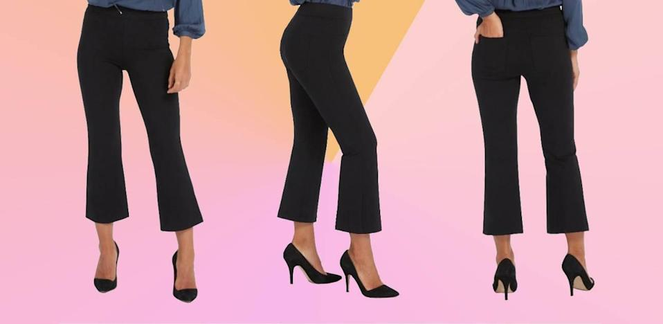 These pants, with magical smoothing fabric, are on sale right now. (Photo: Spanx)