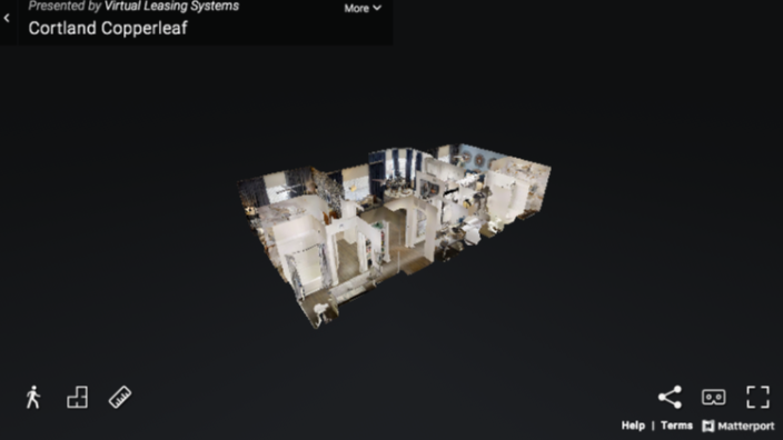 3D virtual reality tours are one way to do tours virtually. The Cortland Copperleaf Apartments in Houston, Texas are featured in this virtual tour by Zumper and Matterport, a California-based 3D cameras and virtual tour software platform company.