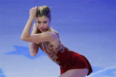 Fourth place finisher Ashley Wagner skates during an exhibition event at the conclusion of the U.S. Figure Skating Championships in Boston, Massachusetts January 12, 2014. REUTERS/Brian Snyder