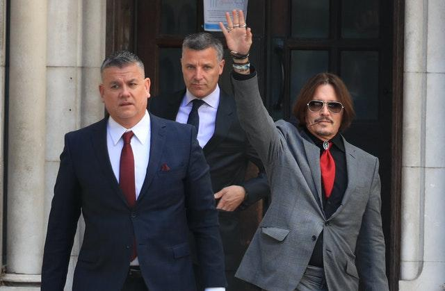 Actor Johnny Depp leaves the High Court (Aaron Chown/PA)