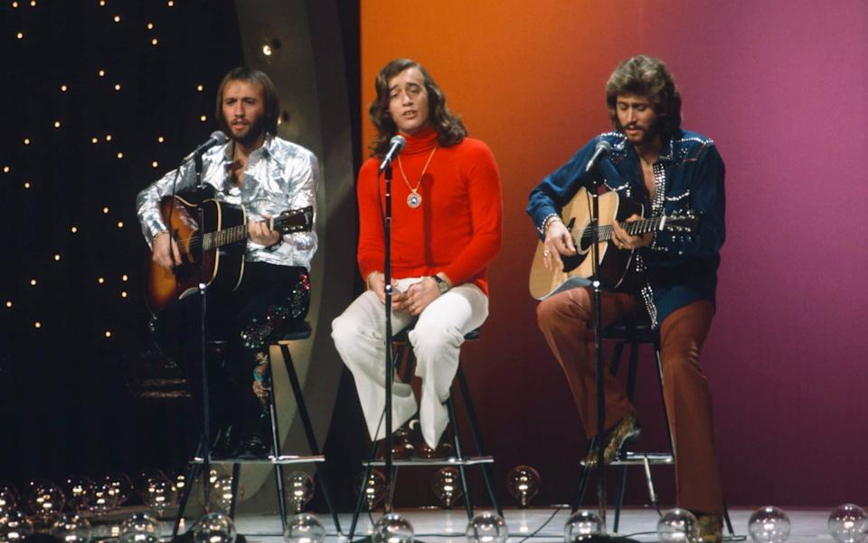 Maurice Gibb, Robin Gibb and Barry Gibb in 1973 - Getty