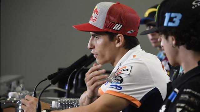 Having already crashed twice this weekend in Thailand, Marc Marquez is eager not to set expectations too high ahead of the race.