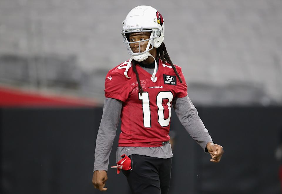 Wide receiver DeAndre Hopkins reportedly signed a multi-year extension with the Arizona Cardinals. (Christian Petersen/Getty Images)