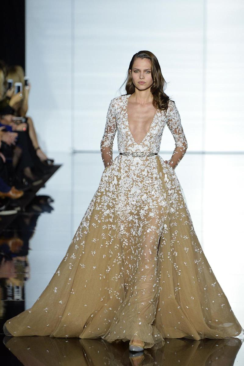 Paris haute couture sheer and ultra feminine at zuhair murad for Haute couture houses list