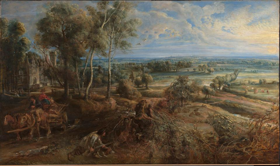 Peter Paul Rubens, An Autumn Landscape with a View of Het Steen in the Early Morning, probably 1636 (The National Gallery)