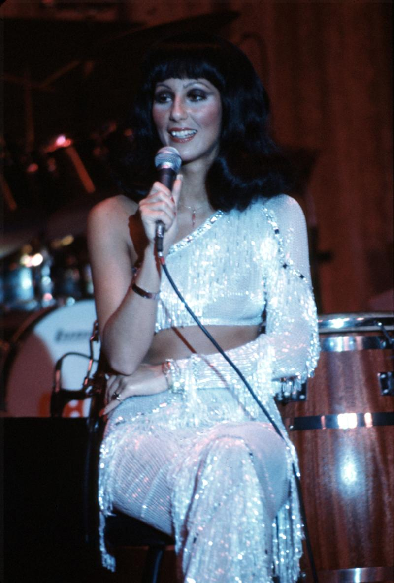 CIRCA 1972: Entertainer Cher performs onstage in circa 1972. (Photo by Michael Ochs Archives/Getty Images)