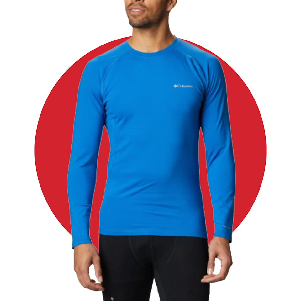 """<p><strong>montrail</strong></p><p>columbia.com</p><p><strong>$85.00</strong></p><p><a href=""""https://go.redirectingat.com?id=74968X1596630&url=https%3A%2F%2Fwww.columbia.com%2Fmens-omni-heat-3d-knit-crew-ii-baselayer-shirt-1918911.html&sref=https%3A%2F%2Fwww.menshealth.com%2Ftechnology-gear%2Fg34088511%2Fmens-health-outdoor-awards-2020%2F"""" rel=""""nofollow noopener"""" target=""""_blank"""" data-ylk=""""slk:BUY IT HERE"""" class=""""link rapid-noclick-resp"""">BUY IT HERE</a></p><p>A good base layer goes a long way during a weekend in the wild. Columbia's new offering has advanced thermal-reflective technology to keep you warm without added bulk. Plus, it has incredibly four-way stretch and moisture-wicking properties for added comfort. </p>"""