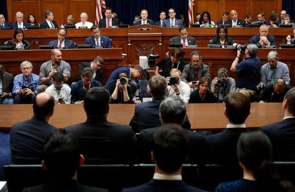 PHOTO: Chairman Rep. Adam Schiff, D-Calif., center, makes an opening statement before questioning Acting Director of National Intelligence Joseph Maguire before the House Intelligence Committee on Capitol Hill in Washington, Sept. 26, 2019. (Pablo Martinez Monsivais/AP)