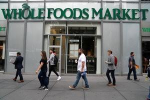 FILE PHOTO: A Whole Foods Market is pictured in the Manhattan borough of New York City