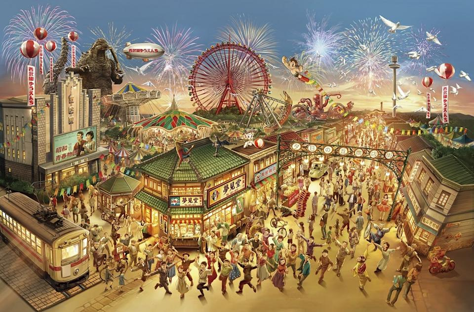 Seibuen will feature a large-scale replica of the shopping street from Japan's Showa era (1926-1989). (Photo: TM & (c) TOHO CO., LTD.)