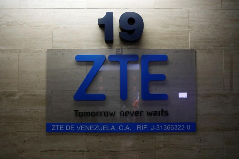 China's ZTE Corp logo is seen at its offices in Caracas