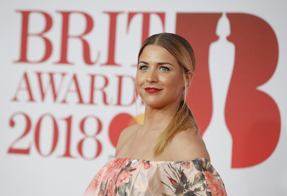 Gemma Atkinson, pictured at the BRIT Awards, gives followers stark warning. (Getty Images)