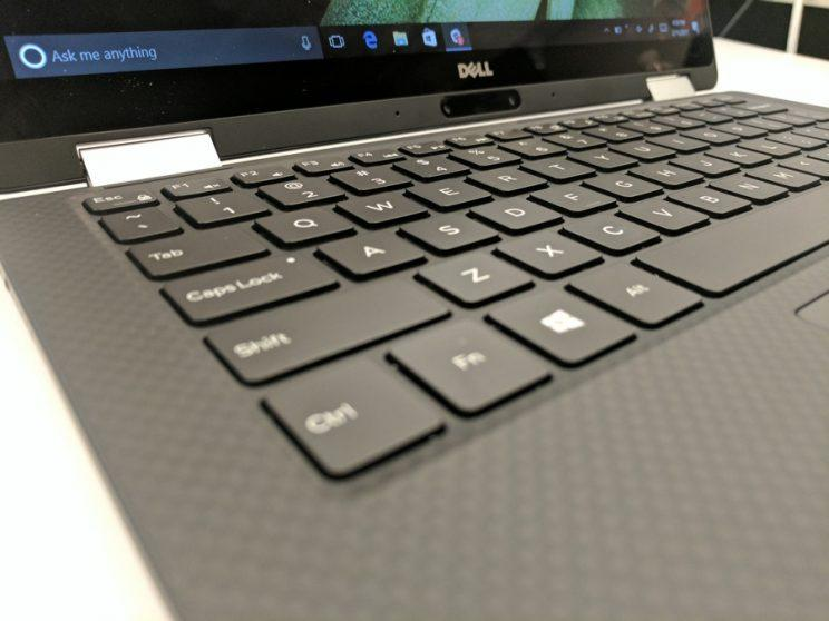 The Dell XPS 13 2-in-1 keyboard.
