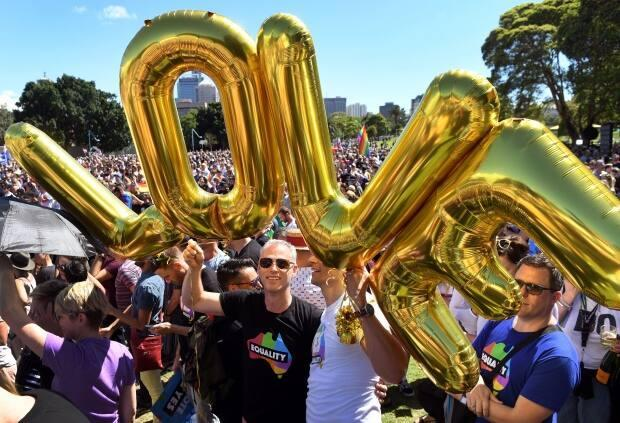 Same-sex marriage has been supported in jurisdictions around the world, like here in Australia, where people celebrated a 'yes' vote that legalized it in that country.