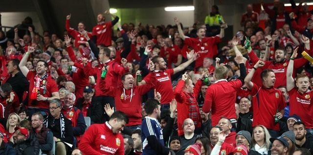 The Lions are expected to take 20,000 fans to South Africa