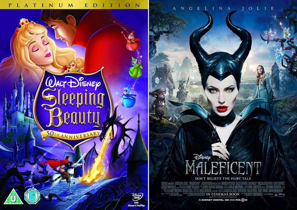 """<p><em>Maleficent</em> took an unconventional approach to adapting the 1959 Disney classic it was based on, <em>Sleeping Beauty</em>, by telling Aurora's familiar story from the side of the iconic villain, Maleficent, played by Angelina Jolie. The twist gave Maleficent something she didn't have in the original movie — a heart. The change of tone helped the movie rake in over $240 million in theaters.</p><p><a class=""""link rapid-noclick-resp"""" href=""""https://www.amazon.com/Maleficent-Theatrical-Angelina-Jolie/dp/B00P7PBD2C/?tag=syn-yahoo-20&ascsubtag=%5Bartid%7C10065.g.2936%5Bsrc%7Cyahoo-us"""" rel=""""nofollow noopener"""" target=""""_blank"""" data-ylk=""""slk:Watch the Remake"""">Watch the Remake</a></p>"""
