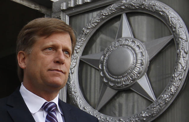 Michael McFaul, former U.S. Ambassador to Russia, leaving the Russian Foreign Ministry headquarters in Moscow on May 15, 2013. (Photo: Maxim Shemetov/Reuters)