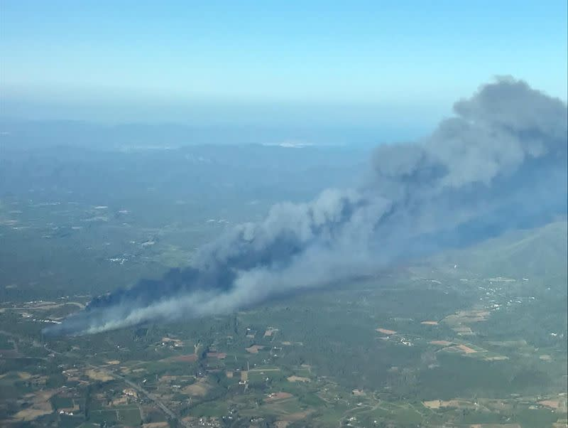 Wildfire in the Var region of southern France