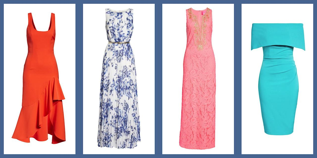 <p>Summer is on its way and with that comes peak wedding season. While beautiful ceremonies and buzzing receptions are always a blast, they are infinitely more fun when you don't have to spend all of your time stressing about what you are going to wear. </p><p>These dresses provide every option one could need. From flirty minidresses to floaty maxis and pretty prints to eye-catching brights, the styles we've gathered run the gamut to make sure you look stylish for whatever wedding season throws your way. </p>