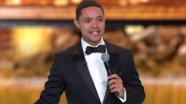 "Trevor Noah hosted a spoof awards ceremony to see how President Donald Trump measures up to authoritarian leaders around the world on Wednesday's broadcast of ""The Daily Show."""