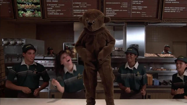 McDonald's plays host to a huge dance number in 'Mac and Me'. (Credit: Orion Pictures)